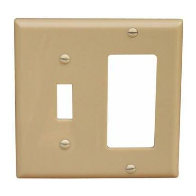 2 Gang 1 Toggle 1 GFCI Lexan Wall Plates in Ivory