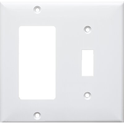 2 Gang 1 Toggle 1 GFCI Lexan Wall Plates in White