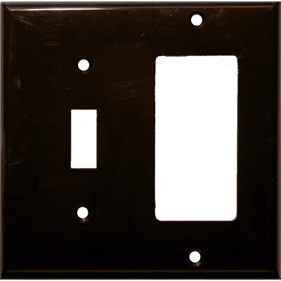 2 Gang 1 Toggle 1 GFCI Lexan Wall Plates in Brown (Set of 5)