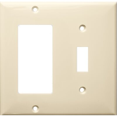 2 Gang 1 Toggle 1 GFCI Lexan Wall Plates in Almond