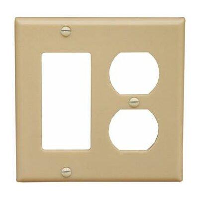 2 Gang 1 GFCI 1 Duplex Lexan Wall Plates in Ivory