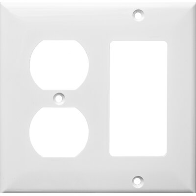 2 Gang 1 GFCI 1 Duplex Lexan Wall Plates in White