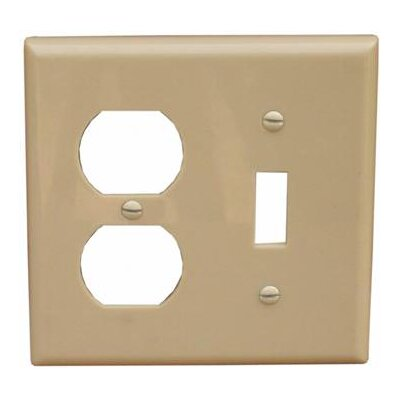 2 Gang 1 Duplex 1 Toggle Lexan Wall Plates in Ivory (Set of 6)