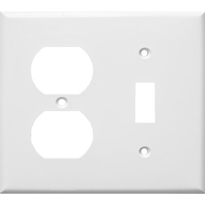 2 Gang 1 Duplex 1 Toggle Lexan Wall Plates in White (Set of 6)