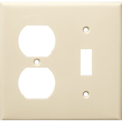 2 Gang 1 Duplex 1 Toggle Lexan Wall Plates in Almond