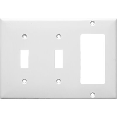 3 Gang 2 Toggle 1 GFCI Lexan Wall Plates in White