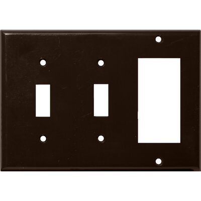 3 Gang 2 Toggle 1 GFCI Lexan Wall Plates in Brown (Set of 4)