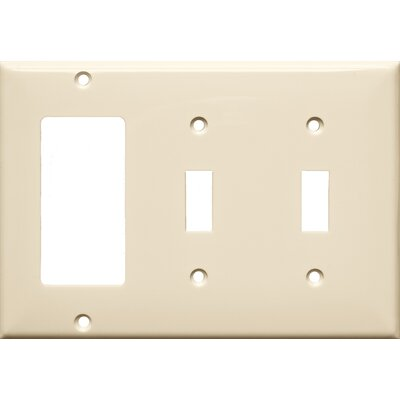 3 Gang 2 Toggle 1 GFCI Lexan Wall Plates in Almond (Set of 4)