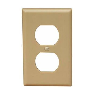 1 Gang Duplex Lexan Receptacle Wall Plates in Ivory (Set of 15)