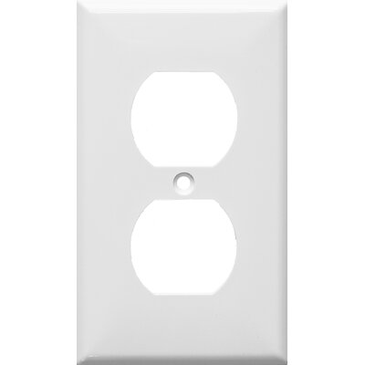 1 Gang Duplex Lexan Receptacle Wall Plates in White