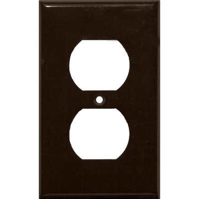 1 Gang Duplex Lexan Receptacle Wall Plates in Brown