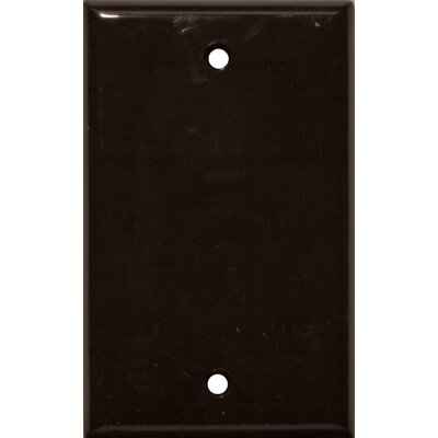 1 Gang Blank Lexan Wall Plates in Brown