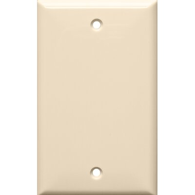 1 Gang Blank Lexan Wall Plates in Almond (Set of 12)