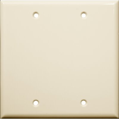 2 Gang Blank Lexan Wall Plates in Almond