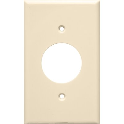 1 Gang Single Lexan Receptacle Wall Plates in Almond