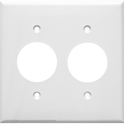 2 Gang Single Lexan Receptacle Wall Plates in White (Set of 6)