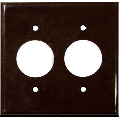 2 Gang Single Lexan Receptacle Wall Plates in Brown (Set of 6)
