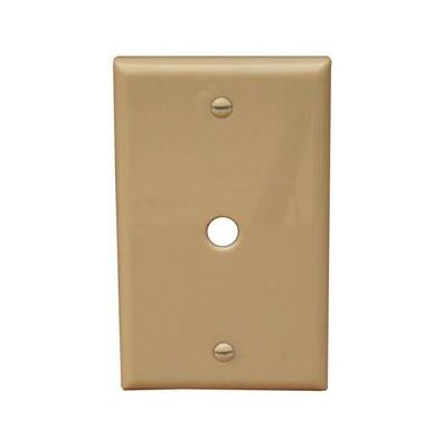 1 Gang 0.41 Hole Lexan Cable Wall Plates in Ivory (Set of 8)