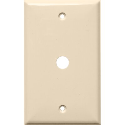 1 Gang 0.41 Hole Lexan Cable Wall Plates in Almond