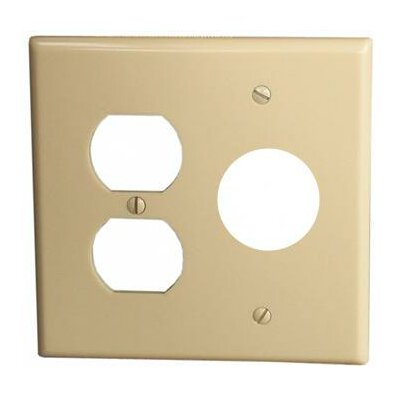 2 Gang 1 Duplex 1 Single Lexan Wall Plates in Ivory