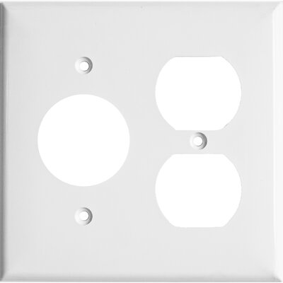 2 Gang 1 Duplex 1 Single Lexan Wall Plates in White