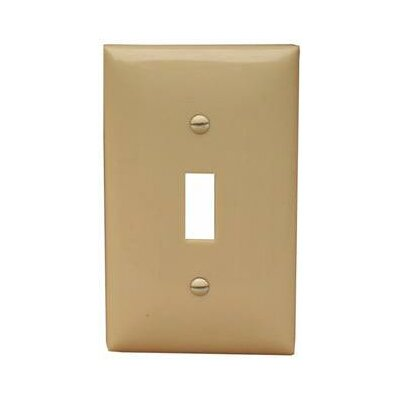 1 Gang Midsize Lexan Wall Plates for Toggle Switch in Ivory