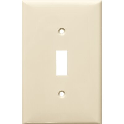 1 Gang Midsize Lexan Wall Plates for Toggle Switch in Almond