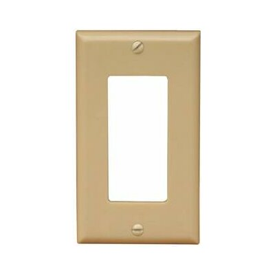 1 Gang Midsize Decorator / GFCI Lexan Wall Plates in Ivory (Set of 9)