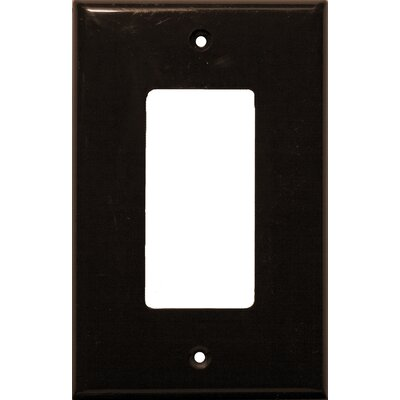 1 Gang Midsize Decorator / GFCI Lexan Wall Plates in Brown