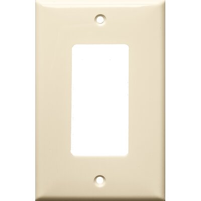 1 Gang Midsize Decorator / GFCI Lexan Wall Plates in Almond