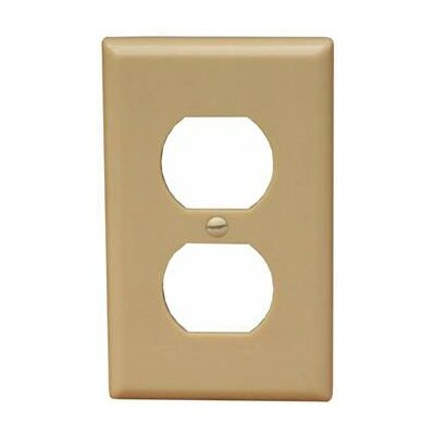 1 Gang Midsize Duplex Receptacle Lexan Wall Plates in Ivory