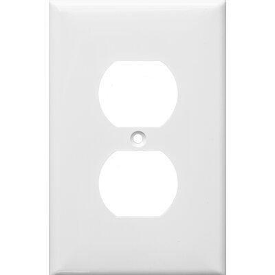 1 Gang Midsize Duplex Receptacle Lexan Wall Plates in White