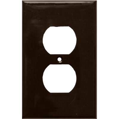 1 Gang Midsize Duplex Receptacle Lexan Wall Plates in Brown