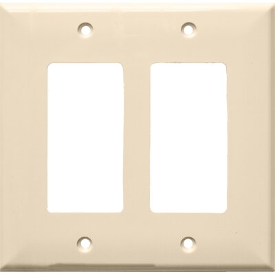 2 Gang Midsize Decorative / GFCI Lexan Wall Plates in Almond (Set of 5)