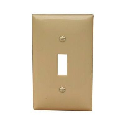 1 Gang Oversize Lexan Wall Plates for Toggle Switch in Ivory