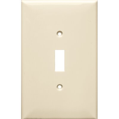 1 Gang Oversize Lexan Wall Plates for Toggle Switch in Almond