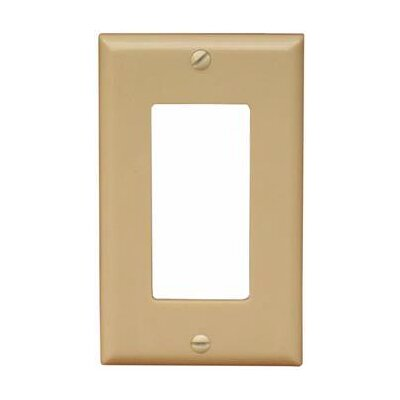 1 Gang Oversize Decorative / GFCI Lexan Wall Plates in Ivory