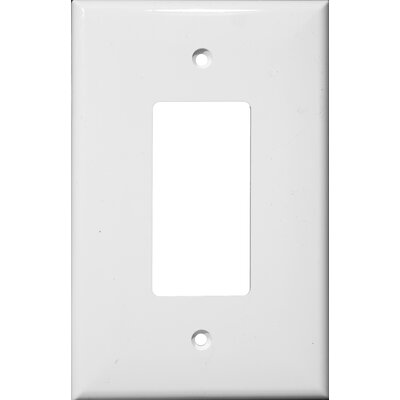 1 Gang Oversize Decorative / GFCI Lexan Wall Plates in White (Set of 6)