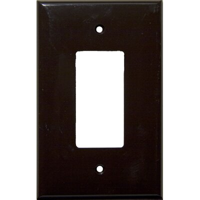 1 Gang Oversize Decorative / GFCI Lexan Wall Plates in Brown (Set of 6)