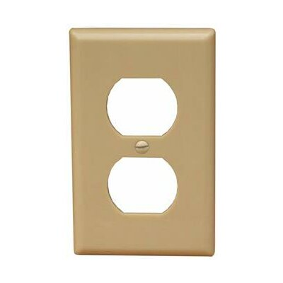 1 Gang Oversize Duplex Receptacle Lexan Wall Plates in Ivory (Set of 6)
