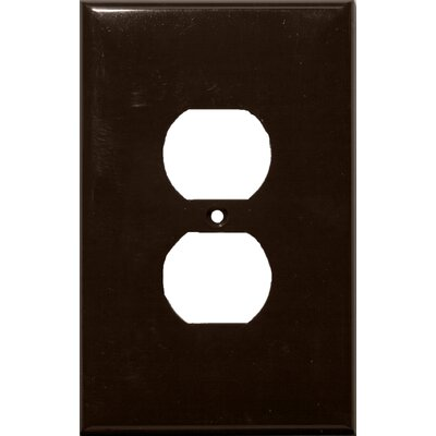 1 Gang Oversize Duplex Receptacle Lexan Wall Plates in Brown