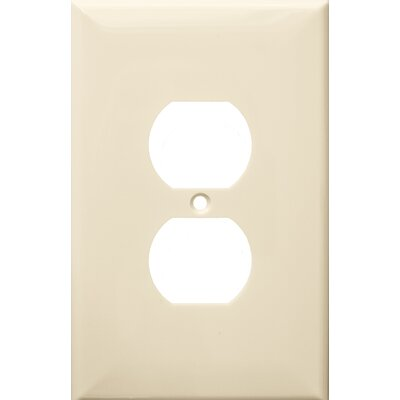 1 Gang Oversize Duplex Receptacle Lexan Wall Plates in Almond