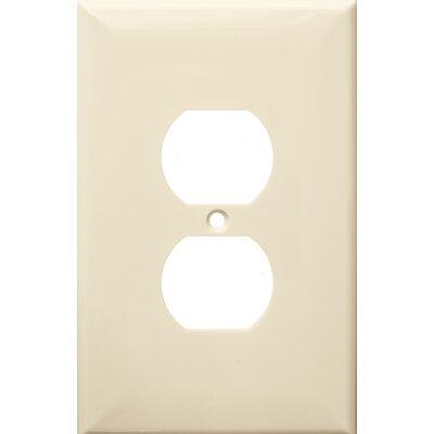1 Gang Oversize Duplex Receptacle Lexan Wall Plates in Almond (Set of 6)