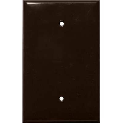 1 Gang Oversize Blank Lexan Wall Plates in Brown (Set of 6)