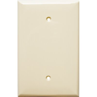 1 Gang Oversize Blank Lexan Wall Plates in Almond