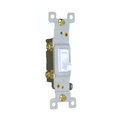 15A-120/277V 3 Way Toggle Switch in White
