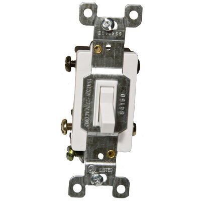 15A-120/277V 4 Way Toggle Switch in White  (Set of 2)