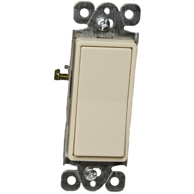 Decorator 3 Way Lighted Switches in Ivory