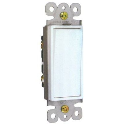 Decorator Single Pole Lighted Switches in White