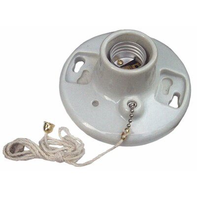 Porcelain Receptacles Pull Chain Screw Terminals (Set of 2)